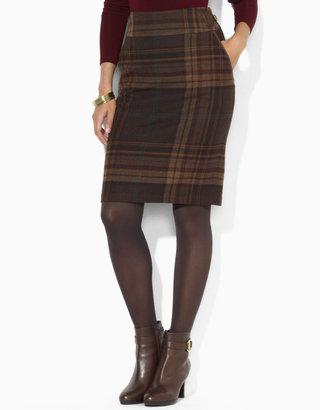 Lauren Ralph Lauren Plaid Straight Skirt