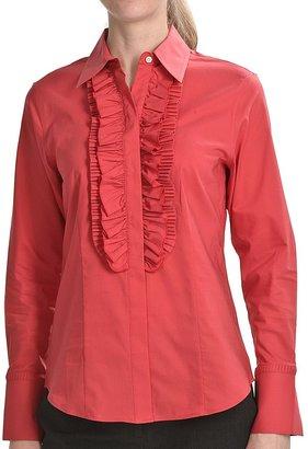 Paperwhite Novelty Tuxedo Shirt - Long Sleeve (For Women)