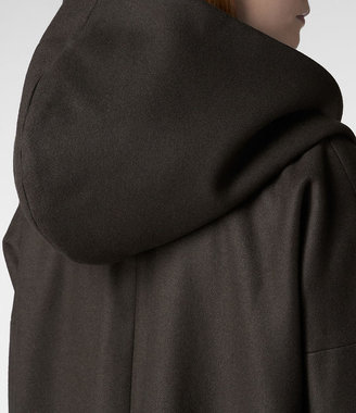 AllSaints Hooded Klein Coat