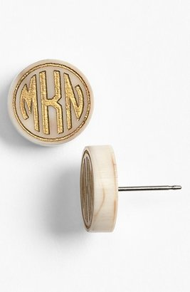 Women's Moon And Lola 'Chelsea' Small Personalized Monogram Stud Earrings $48 thestylecure.com