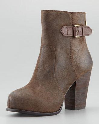 Pelle Moda Fine Oiled Leather Back-Zip Bootie