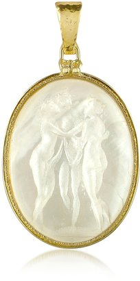 Tagliamonte Three Graces - 18K Gold Mother of Pearl Cameo Pendant
