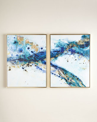 """Horchow Two """"Azure Canyon"""" Prints"""