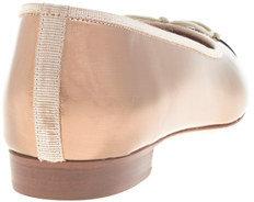 J.Crew Kiki satin cap toe ballet flats