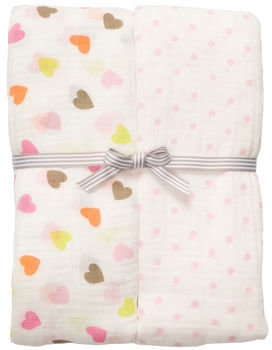 Carter's 2-Pack Muslin Swaddle Blankets