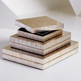 Natori Rectangular Antique Foil Lacquer Box, Small