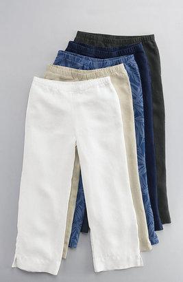 J. Jill Easy linen print cropped pants