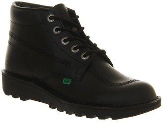 Kickers Kick Hi Black Leather