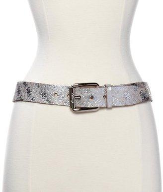 GUESS Women's Distressed Metallic Leather Belt