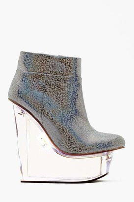 Nasty Gal Icy Light Wedge Boot