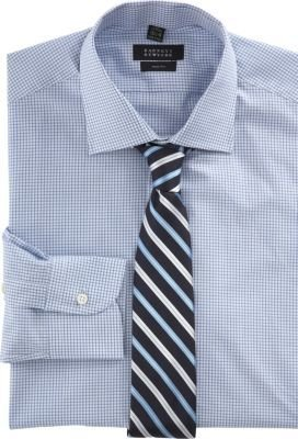 Barneys New York Trim-fit Graph Check Dress Shirt