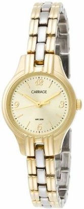 Carriage by Timex Women's C3C382 Two-Tone Round Case Champaign Dial Two-Tone Bracelet Watch $70 thestylecure.com