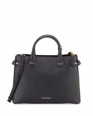 Burberry Leather & Check Canvas Tote Bag, Black $1,595 thestylecure.com