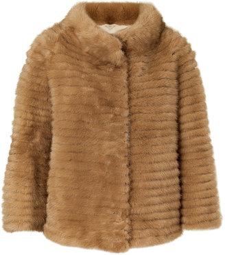 Yves Salomon Tan A-Line Mink Jacket