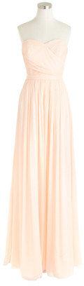 J.Crew Petite Arabelle long dress in silk chiffon