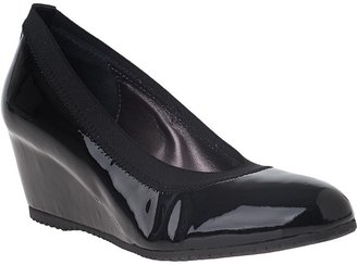 Aquatalia by Marvin K Dreamers Wedge Pump Black Patent