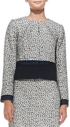 Tory Burch Lucille Silk-Blend Tweed Jacket