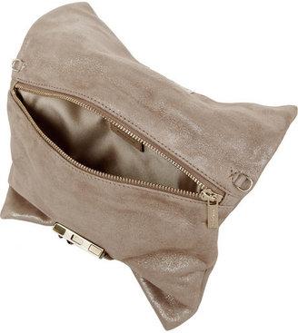 Jimmy Choo Chandra glittered suede shoulder bag