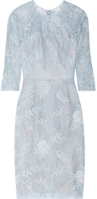 Lela Rose Chantilly lace dress