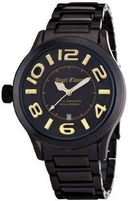 Angel Clover (エンジェル クローバー) - [エンジェルクローバー]Angel Clover 腕時計 レフトクラウン ブラック/ゴールド文字盤 ステンレス(BKPVD)ケース ステンレス(BKPVD)ベルト デイト 150M防水 LC44BBG メンズ