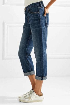 Current/Elliott The Boyfriend Cropped Mid-rise Jeans - Mid denim