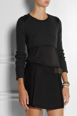 Isabel Marant Brad cropped wool-blend sweater