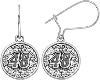 """Insignia Collection NASCAR Jimmie Johnson Stainless Steel """"48"""" Drop Earrings"""
