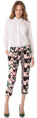 M Missoni Silk Printed Pants