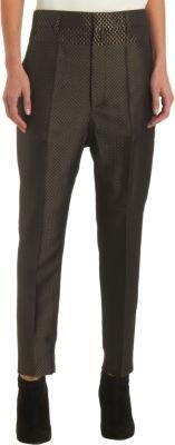 Haider Ackermann Chevron Jacquard Cropped Pants