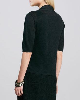 Eileen Fisher Half-Sleeve Cardigan