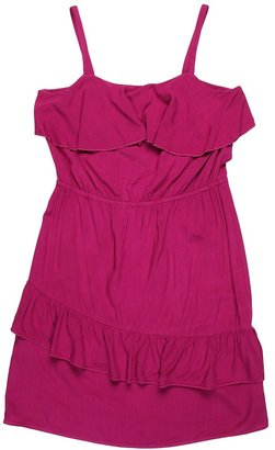 Ella Moss Sleeveless Ruffle Dress (Big Kids) (Raspberry) - Apparel