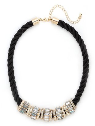 BaubleBar Noir Iced Ring Necklace