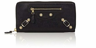 Balenciaga Women's Arena Leather Giant Continental Wallet