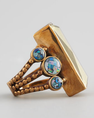 Stephen Dweck Multi-Stone Rectangle Ring