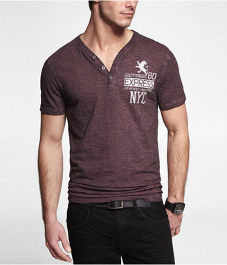 Express Fitted Henley Graphic Tee - Loyalty Strength 80