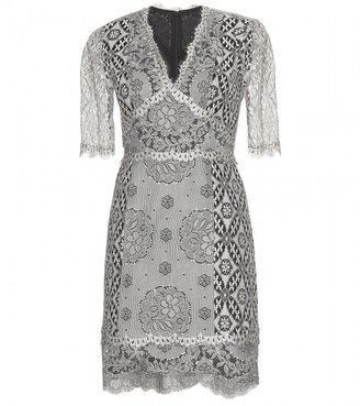 Anna Sui DRESS WITH LACE OVERLAY