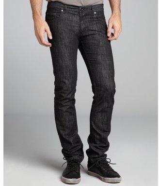 Prada black cotton denim straight leg jeans
