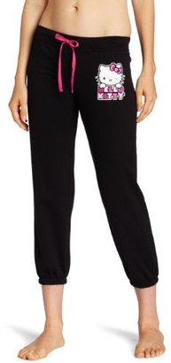 Hello Kitty Juniors Hk Loves Me Placement Print Solid Sleep Pant