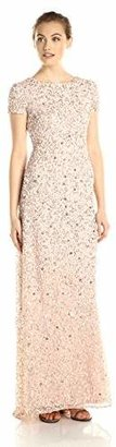 Adrianna Papell Women's Short-Sleeve All Over Sequin Gown $236.20 thestylecure.com