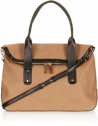 Topshop Flap Over Slouchy Holdall Bag