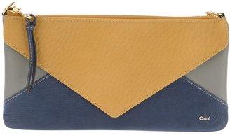Chloé colour block clutch