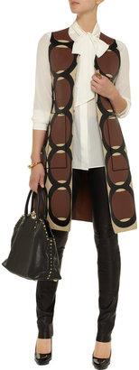 Marni Patterned leather sleeveless jacket