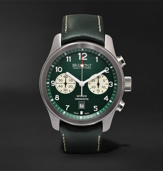 Bremont ALT1-Classic/GN Automatic Chronograph 43mm Stainless Steel and Leather Watch, Ref. No. ALT1-C/GN - Men - Green