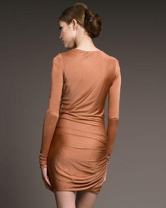 J. Mendel Long-Sleeve Jersey Dress