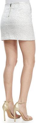 Alice + Olivia Elana Shiny Mini Skirt
