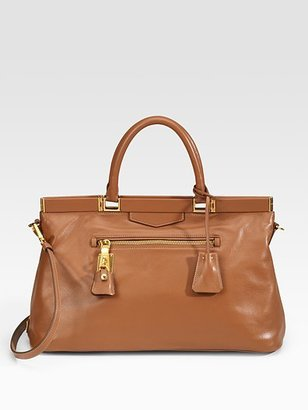 Prada Soft Calfskin Leather Satchel