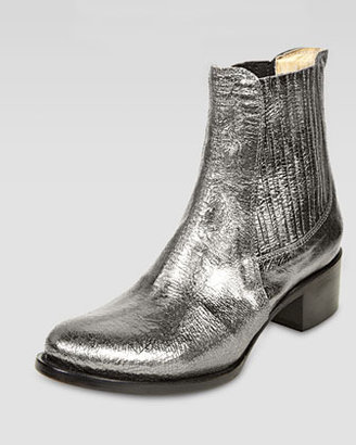 Elizabeth and James April Metallic Leather Bootie, Pewter