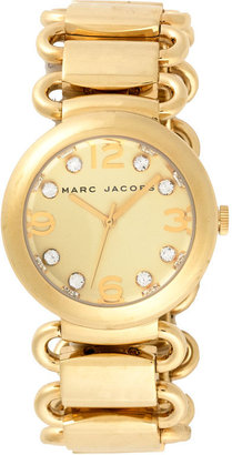 Marc by Marc Jacobs 'Molly' Round Dial Metal Watch