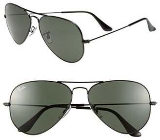 Women's Ray-Ban 'Original Aviator' 58Mm Sunglasses - Black $150 thestylecure.com