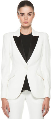 Alexander McQueen Tuxedo Jacket in Ivory